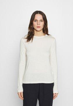 Zign - SILK BLEND Longsleeve - Langærmede T-shirts - off-white