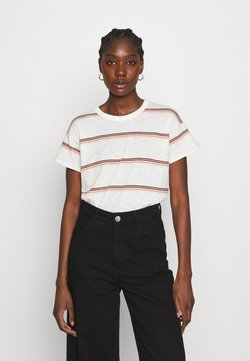 Madewell - SORREL WHISPER CREWNECK TEE IN SCAR STRIPE - T-Shirt print - lighthouse