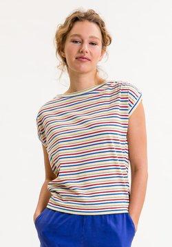 UVR Berlin - TIFFANYINA - T-Shirt print - beige mit bunten streifen