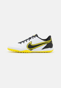 Nike Performance - TIEMPO LEGEND 9 ACADEMY TF - Korki Turfy - white/dark smoke grey/black/yellow strike
