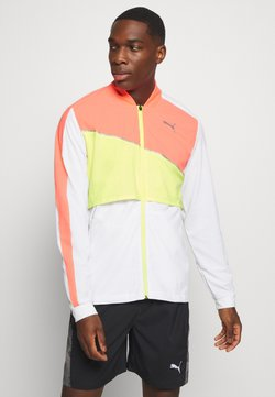 Puma - RUN LITE ULTRA JACKET - Laufjacke - white/energy peach/fizzy yellow