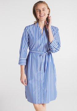 Eterna - Blusenkleid - blau/weiß