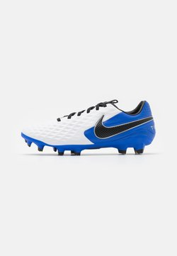 Nike Performance - TIEMPO LEGEND 8 PRO FG - Moulded stud football boots - white/black/hyper royal/metallic silver