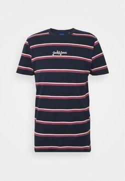 Jack & Jones - JORSALT TEE CREW NECK - T-Shirt print - navy /melange