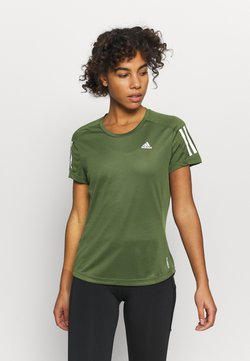 adidas Performance - OWN THE RUN TEE - T-Shirt print - khaki