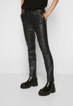 Victoria Victoria Beckham - STRAIGHT LEG TROUSER - Pantalon en cuir - black