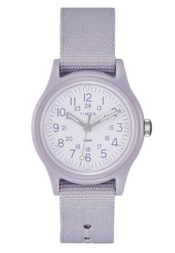 Timex - WOMENS CAMPER CASE WHITE DIAL STRAP - Montre - purple