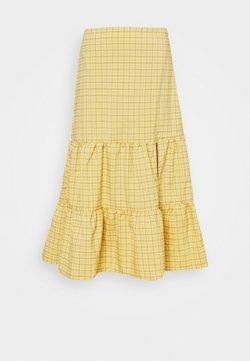 Fashion Union - PARADISO SKIRT - A-Linien-Rock - yellow check