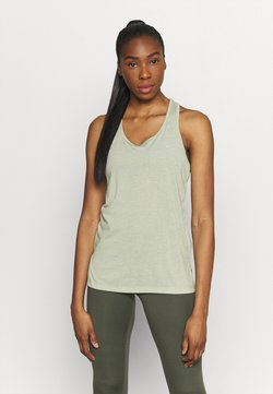 Nike Performance - YOGA LAYER TANK - Camiseta de deporte - celadon heather/olive aura