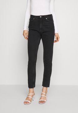 Monki - KIMOMO - Jeansy Straight Leg - black
