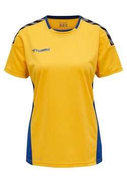 Hummel - HMLAUTHENTIC  - T-shirt print - sports yellow/true blue