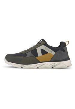 TOM TAILOR - Sneaker low - black-khaki