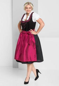 Sheego - Dirndl - schwarz-rot