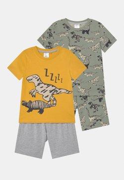 Lindex - MINI DINO 2 PACK - Pyjama - khaki