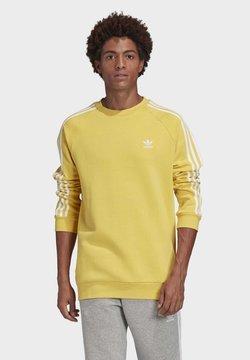 adidas Originals - 3-STRIPES CREWNECK SWEATSHIRT - Sweatshirt - yellow