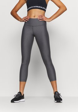 Under Armour - HI RISE CROP - Tights - charcoal light heather