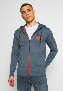 Jack & Jones - JCOSTRONG ZIP HOOD - Sweatjacke - china blue/melange