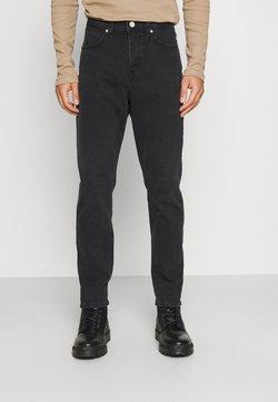 Marc O'Polo DENIM - 5-POCKET REGULAR WAIST COVERED  - Straight leg -farkut - multi/greyish worn out black