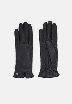 Roeckl - KLASSIKER GERAFFT - Fingerhandschuh - black