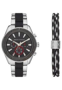 Armani Exchange - SET - Montre à aiguilles - black/silver-coloured