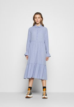 Monki - PARLY DRESS - Skjortekjole - blue