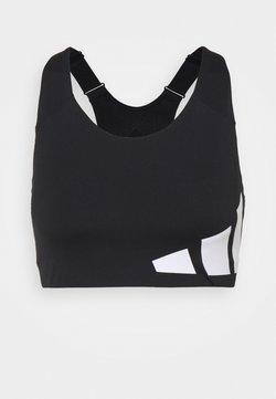 adidas Performance - ALPHA - Sport BH - black/white