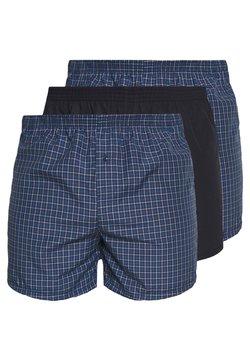 Pier One - 3 PACK - Boxer shorts - dark blue/blue