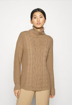 GAP - CABLE  - Strickpullover - classic camel