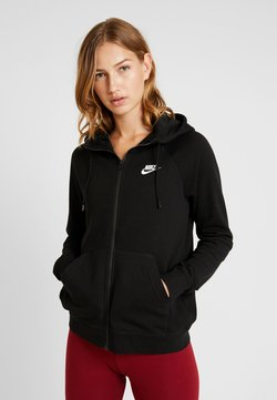 Nike Sportswear - HOODIE - Hoodie met rits - black/white