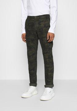 Mason's - CHILE  - Pantalon cargo - dark green/dark brown