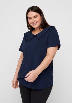 Zizzi - T-shirt con stampa - navy blazer