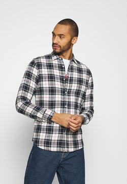 Jack & Jones - JJEWILL CHECK SHIRT  - Hemd - cloud dancer