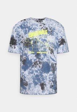 Jack & Jones - JORAZIEL TEE CREW NECK - T-shirt z nadrukiem - navy blazer