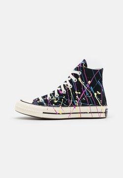 Converse - CHUCK 70 ARCHIVE PAINT SPLATTER PRINT UNISEX - Sneakers alte - black/hyper magenta/egret
