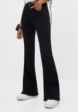 Bershka - Bootcut jeans - black