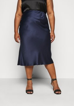 CAPSULE by Simply Be - COLUMN MIDI SKIRT - A-Linien-Rock - navy