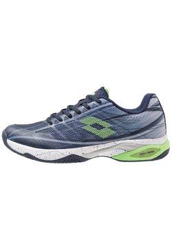 Lotto - MIRAGE 300 CLY - Tennisschoenen voor kleibanen - navy blue/green neo/silver metal