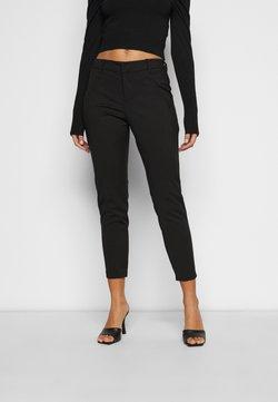 Vero Moda Petite - VMVICTORIA ANTIFIT ANKLE PANTS  - Stoffhose - black