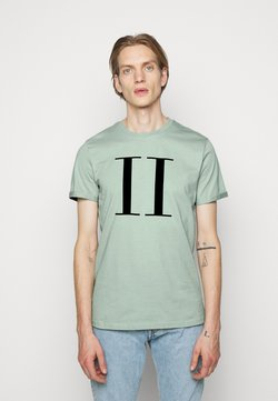 Les Deux - ENCORE  - T-shirts med print - iceberg green/navy blue