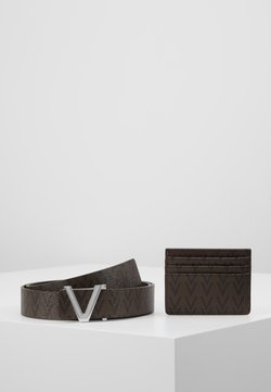 Valentino Bags - CRUP BELT AND WALLET HOLDER SET - Belt - moro/nero