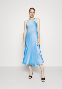 Who What Wear - CUT OUT BACK SLIP DRESS - Cocktailkleid/festliches Kleid - sky blue