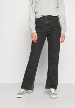 Weekday - ROWE NEW SPLIT - Jeans straight leg - new black
