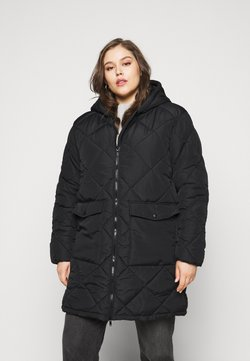 Noisy May Curve - NMFALCON LONG JACKET - Winterjacke - black