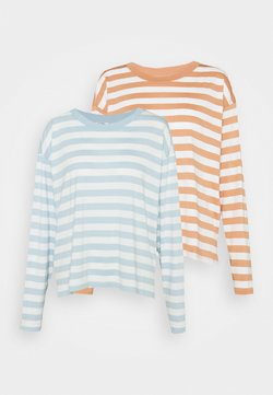 Monki - MAJA 2 PACK - Langarmshirt - blue light/rost