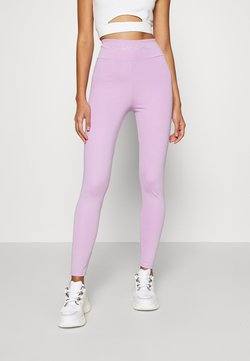 KENDALL + KYLIE - HIGH WAIST LOGOTIGHTS - Legging - lilac