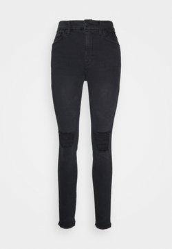 Good American - GOOD WAIST PRINTED POCKET BAGS - Jeans Skinny Fit - black