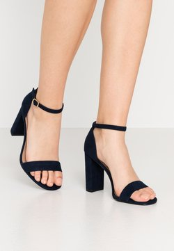 New Look Wide Fit - WIDE FIT VARONA - Sandalen met hoge hak - dark blue