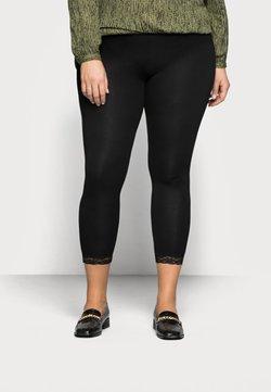 Kaffe Curve - KCSVELIANA - Leggings - Trousers - black deep