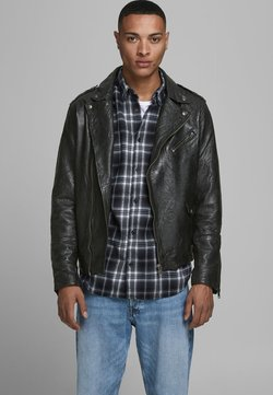 Jack & Jones - Leren jas - black