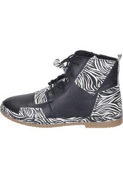 Manitu - Schnürstiefelette - schwarz/zebra